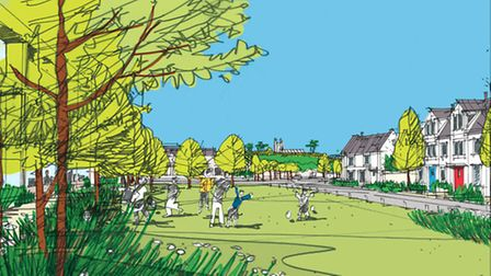 An artist's impression of how the proposed development at Chivenor Cross may appear.