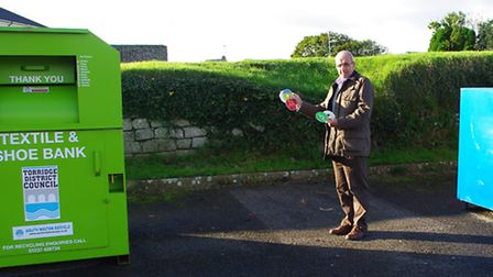 Torridge District Councillor Chris Leather at the spot where the media bank should be.
