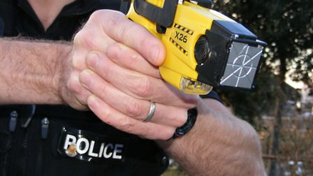 Police threatened to use a Taser gun on an man in Ilfracombe.