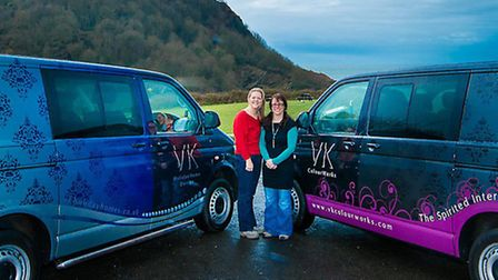 Vicky Wilkins and Karley Fricker of Ilfracombe-based VK Colourworks are celebrating after being shor