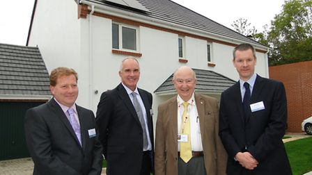 Pictured at the official opening of St Joseph's Close in Newport are Eric Bunting of Leadbetter, Mi
