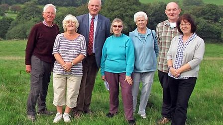 Members of North Devon Ramblers are pictured with MP Nick Harvey.