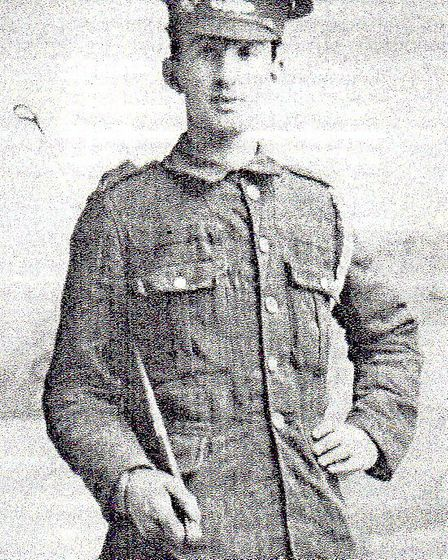 James Dendle, a member of Ilfracombe Territorials and grandfather of Jane Dendle, who is a volunteer