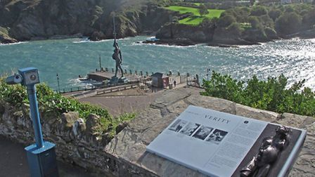 It is a year since Damien Hirst's Verity was hoisted into position on Ilfracombe Pier.