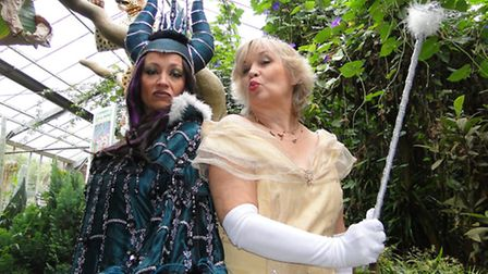 Carabosse the bad witch (Nicki Evans) and the Fairy Godmother (Susan Penhaligon) will be locking hor