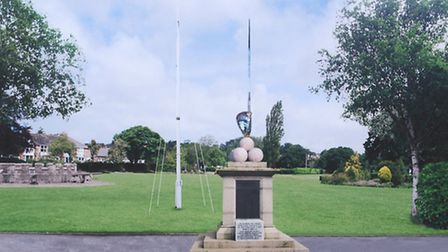 The memorial design which has been chosen by the town council.