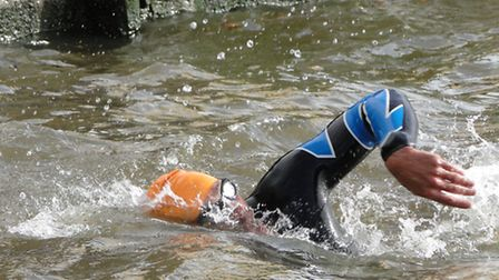 Swimmers braved the River Taw for the North Devon Hospice.