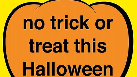People can display this poster provided by police in their front window or door on Hallowe'en.