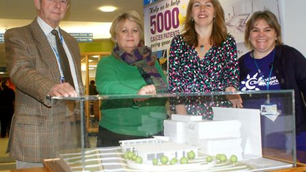 Green light for new chemotherapy unit (from right): Northern Devon Healthcare NHS Trust Roger French