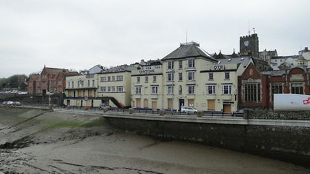 Tantons Hotel has stood vacant on the Quay since the fire in June 2011.
