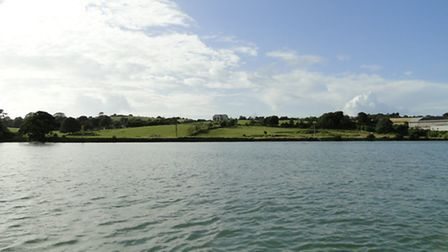 The site of the proposed 250-berth marina and up to 300 houses at Knapp House, Northam.