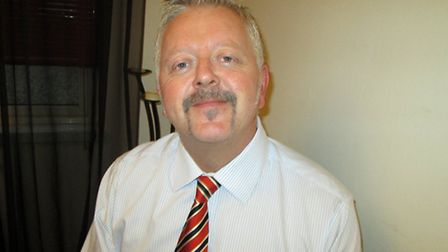 Greg Schofield, of the Round Table group, with his Movember effort.