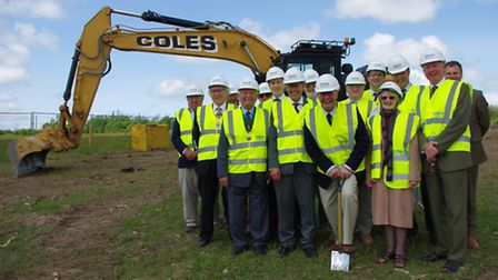 The turf cutting ceremony at the Holsworthy site in June.