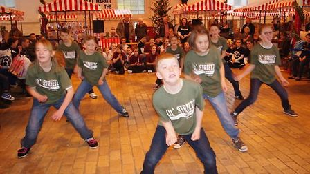 The entertainment in Bideford Pannier Market during the Christmas Light Switch On. Pic: Graham Hobbs