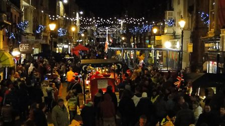 Crowds always gather for the annual Lighting of the Lights in Ilfracombe.