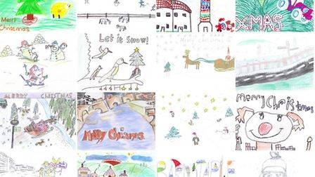 Some of the Christmas card designs submitted by young North Devon Gazette readers.