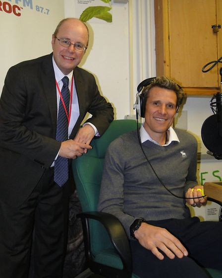 James Cracknell was accompanied by Conservative PPC for 2015 Peter Heaton-Jones
