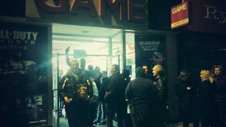 David Tyzack was the second person to pick up his Xbox One from the Game store in Barnstaple.
