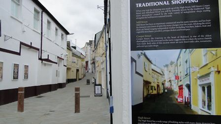 Before and after: The tourist board on Jubilee Squares how the newly resurfaced Cooper Street used t