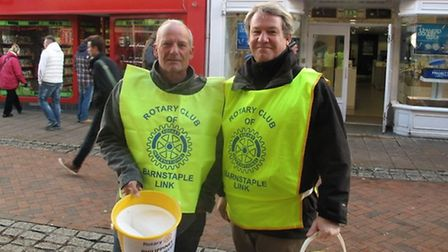 Rotary club members were out in force in Barnstaple High Street to collect donations for the Philipp