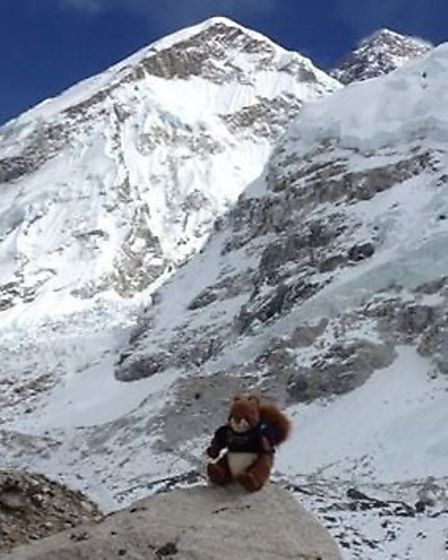 Cyril heads towards the famous Mount Everest.