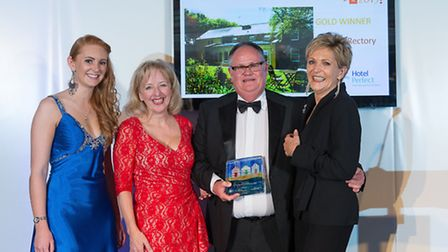 Top hotel: (from left) Melanie Kimpton of HotelPerfect.co.uk, Jennette Baxter of Starfish PR, Huw Re