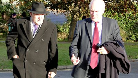 Business Secretary Vince Cable and North Devon MP are pictured outside Petroc in Barnstaple this mor