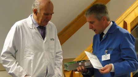 Dr Cable chats to TDK Lambda general manager and NDMA chairman Phil Scotcher.