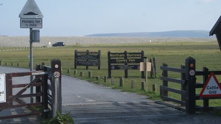 The gate to Northam Burrows at Westward Ho! has been vandalised.