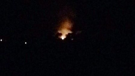 @Taxi_Anne tweeted this photo of the fire from the B3226 yesterday night.