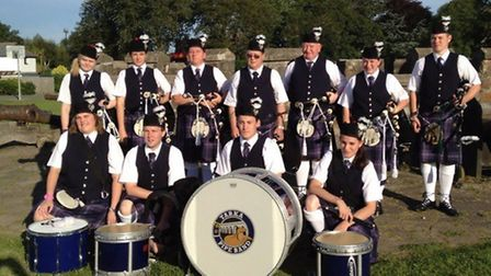 The Tarka Pipe Band at an event earlier this year.