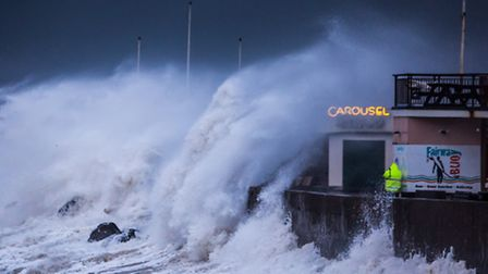 Roy Riley ( www.royriley.co.uk) captured this incredible image of waves battering Westward Ho! durin