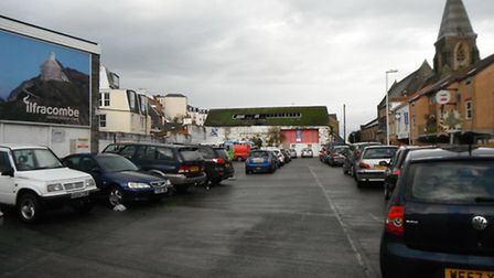 Ilfracombe's old bus station site.