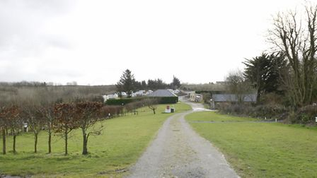 The proposed permanent site for the Route 39 Academy at Steart Farm Touring Park near Bucks Cross.