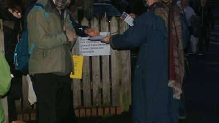 The party members gave out numerous leaflets, with the message 'the railway is ours'