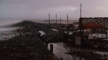 @Helen_langmead tweeted this picture of the damage caused to the pebble ridge in Westward Ho!