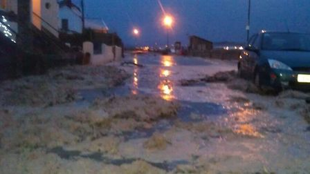 Marine Parade in Instow has been flooded also.