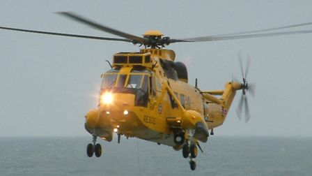 The 22 Squadron Seaking helicopter from RMB Chivenor.