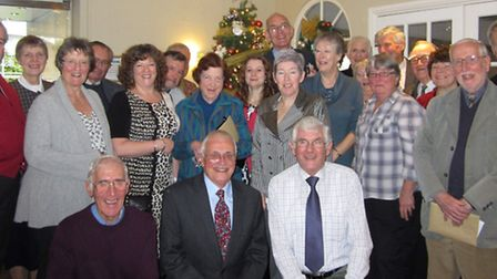 The volunteers were honoured for their service at Arlington Court at a festive lunch.