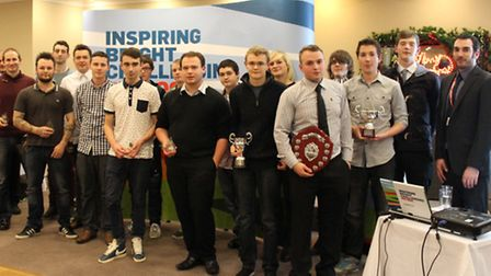 The group of ACBE Petroc student at the awards evening.