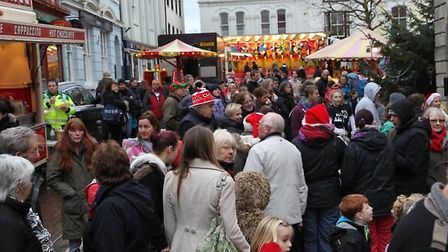 Last year's Christmas event in Torrington saw hundreds of people flock into the town. Pic: Jayne Poo