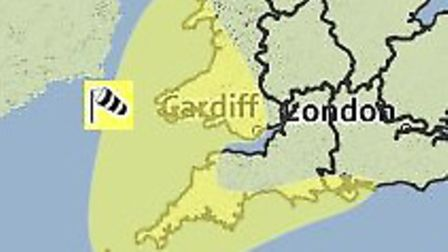 A yellow weather warning for wind has been issued by the Met Office.