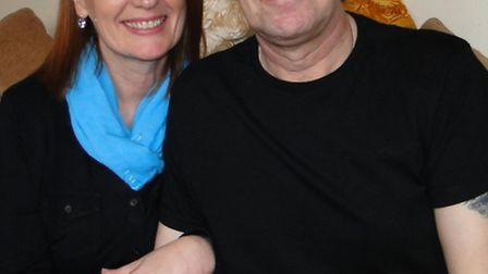 Michele and Gary Marshall pictured in March of this year after launching the fund raising appeal for