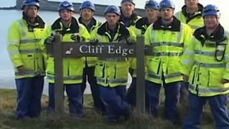 A screenshot from the Christmas video made by the Coastguard.
