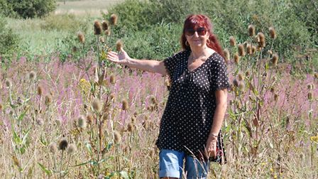 Yelland resident Joanne Bell pictured at the site earlier this year, before much of the vegetation w