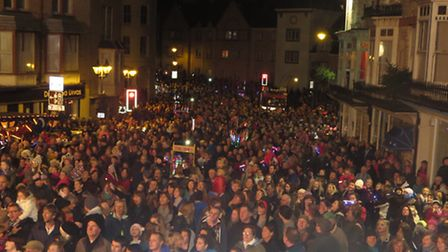 The Lighting of the Lights in Ilfracombe have been hailed a huge success. Picture: Marnie Quy.