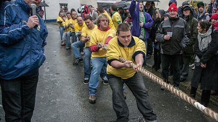 The Aggi team pulled a victory at last year's tug o' war in Braunton. Pic: Tony Howells.