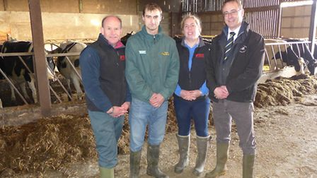 PICTURED at the Holsworthy event are Mike Feneley, partner at Haines Watts Rural Business, host farm
