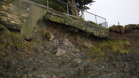 The damage along the South West Coast Path at Appledore. Pic: Martin Caddy.