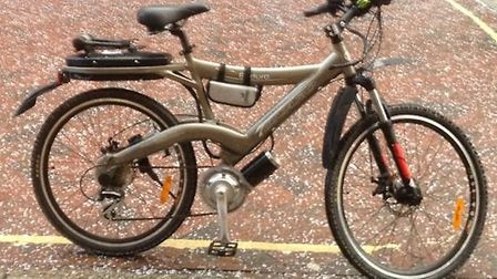 Anyone who sees this electric bicycle, which was stolen in Braunton, is asked to contact the police.